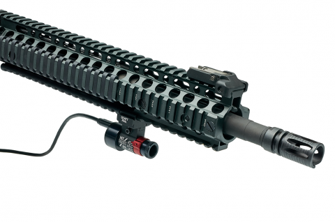 SCATT optical sensor mounted on the rifle