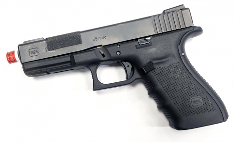 Wireless optical sensor WS-M02 mounted into  the GLOCK pistol