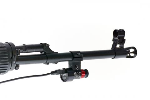 SCATT optical sensor on the SVD rifle